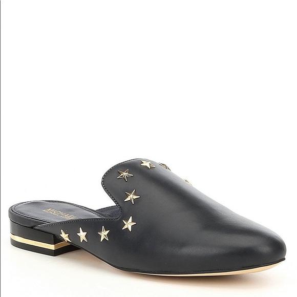 6600c43bcbca Michael Kors Natasha Star Studded Mules - size 10.  M 5aba8b62d39ca239b85f8400